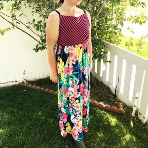 Maurices mixed media sleeveless maxi dress